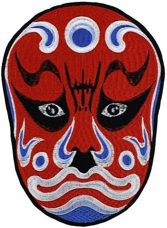 New Chinese  Peking Opera Facial Masks  Patch Embroidery Iron on Sew On Appliqué