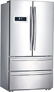 Smad French Door Refrigerator with Ice Maker Freestanding For Home, Hotel & Restaurant, Stainless Steel