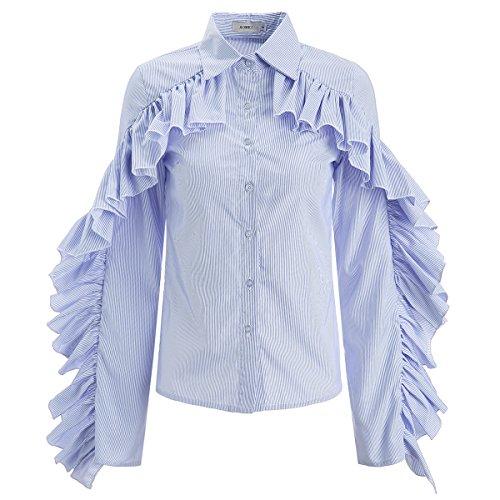 Ruffle Trim Shirt Dress - 7