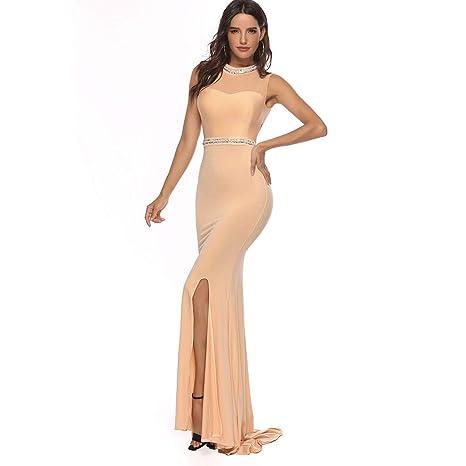 MA87 Vestido Largo sin Mangas para Mujer, con Broca de ...