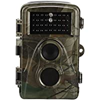Tracfy H9 Hunting Camera - Infrared Scouting Cameras 12 MP 1080P Night Vision Motion Activated Outdoor Wildlife Cameras