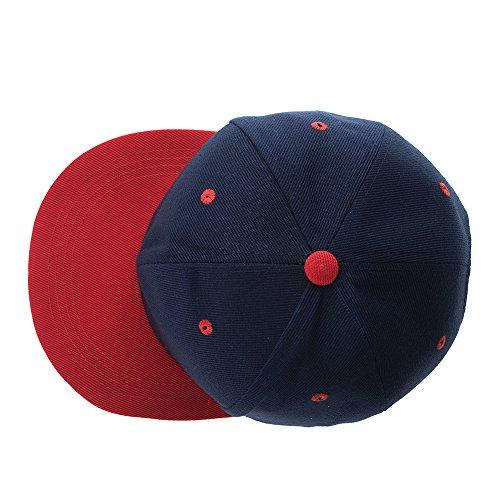 a988ee03207d0 Opromo Plain Two Tone Flat Bill Snapbacks Baseball Cap