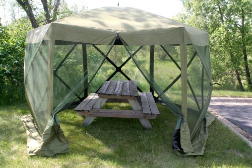 Amazon.com  Clam Corporation 9281 Quick-Set Escape Shelter 140 X 140-Inch Forest Green  Tools Products  Garden u0026 Outdoor : clam 1660 mag screen tent - memphite.com