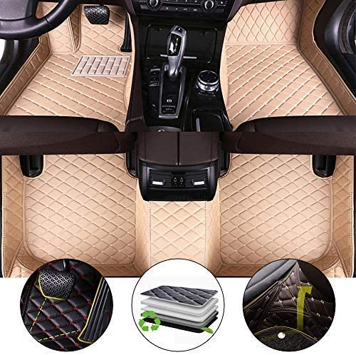 for Nissan Frontier 2005-2019 Floor Mats 3D Full Protection Car Accessories Brown 3 Piece Set