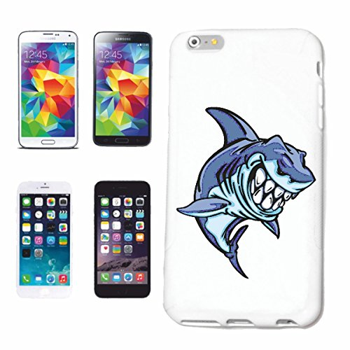 """cas de téléphone iPhone 6S """"WHITE SHARK HAI HAI SHARK SHARK ATTACK WHITE HAI CatsharK Sandhai Tiger SHARK"""" Hard Case Cover Téléphone Covers Smart Cover pour Apple iPhone en blanc"""