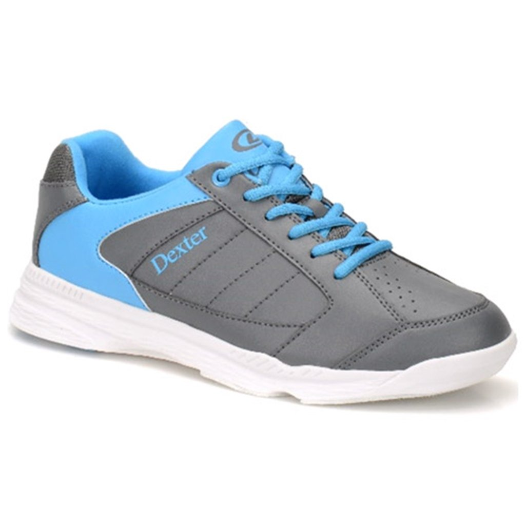 Dexter Mens Ricky IV Bowling Shoes- Grey/Blue Dexter Bowling Shoes