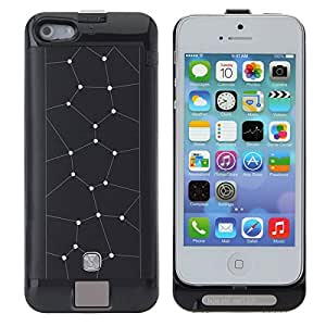 2200mAh Diamond External Battery Backup Case Cover For iPhone 5 5S