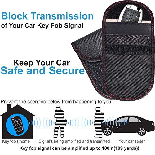 Upgraded Faraday Bag for Key Fob (2 Pack), TICONN Premium