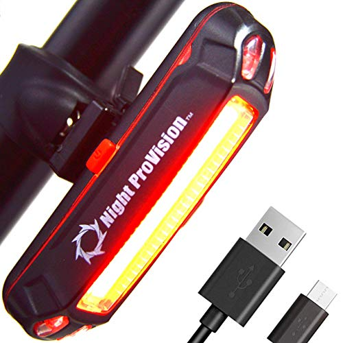LINE-120R USB Rear Bike Light Rechargeable - 120 Lumen COB LED Bicycle Back Tail Light - for Road Bike Mountain Bike BMX (1 Pack)