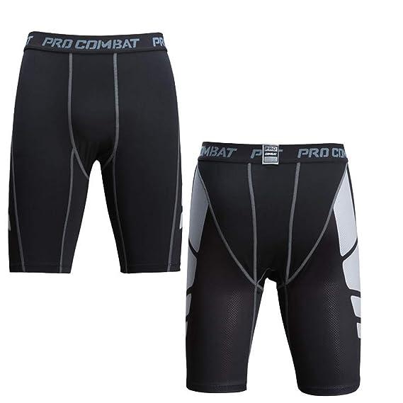 FONEEDGO Cortocircuitos de los hombres Pantalones cortos apretados ...