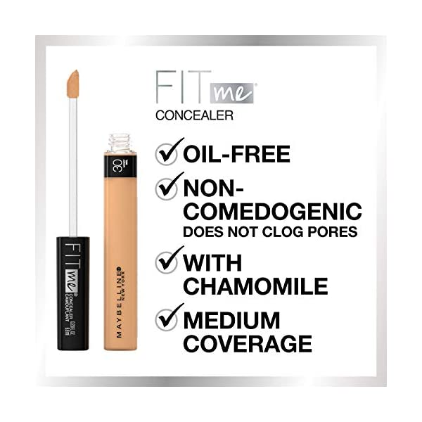 Maybelline New York Fit Me Liquid Concealer Makeup, Natural Coverage, Oil-free