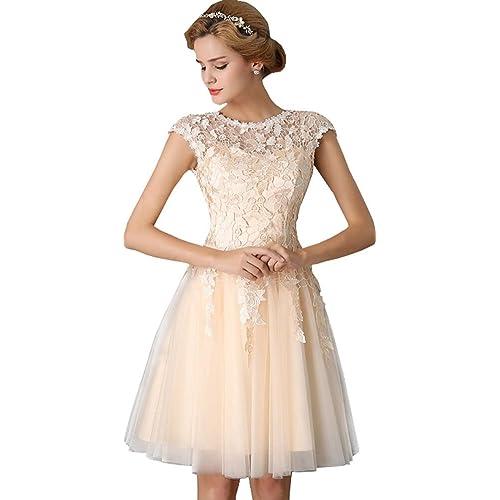 Eudolah Womens Applique Mini Evening Ceremony Prom Dress