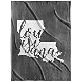 Canvas On Demand Velveteen Blanket - Home State Typography - Louisiana