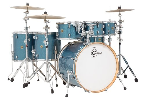 Gretsch Drums Catalina Maple CM1-E826P-AS 6-Piece Drum Shell Pack, Aqua Sparkle