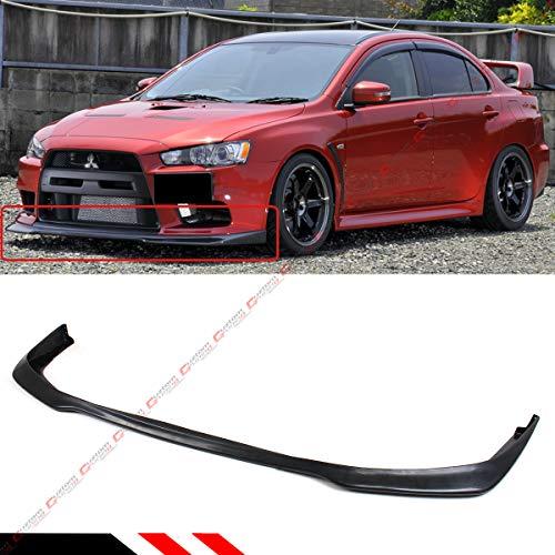 Fits for 2008-2015 Mitsubishi EVO X 10 MR JDM RAL Style Front Bumper Lip Spoiler Splitter (Evo Body Kits)