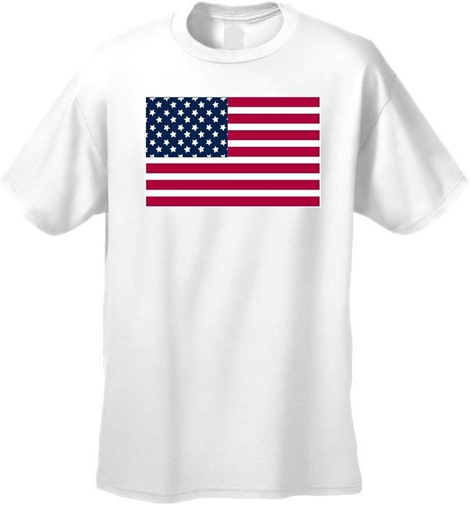 Camiseta de Manga Corta Unisex, diseño de Bandera de Estados Unidos, Talla XL: Amazon.es: Ropa y accesorios