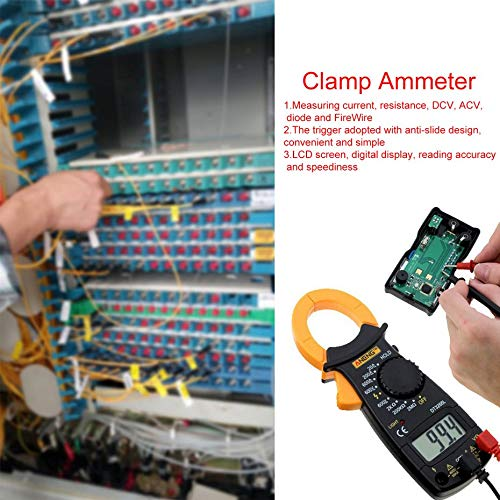 ANENG DT3266L Pinza amperim/étrica digital AC DC Amper/ímetro Mult/ímetro Volt/ímetro 400A Pinza electr/ónica Medidor Diodo Fire Wire Tester