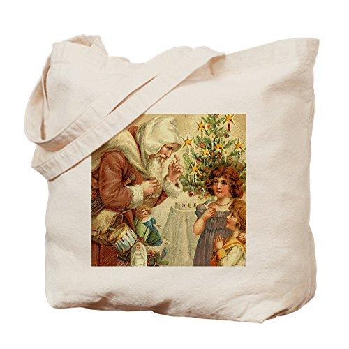 CafePress–Weihnachten Santa Claus Geschenk–Leinwand Natur Tasche, Reinigungstuch Einkaufstasche Tote S khaki