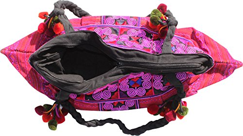 RaanPahMuang Clutch Purse Hill Bag Brand Wide Lines Pink Strap Angled Twisted with Tribe qUBfqx