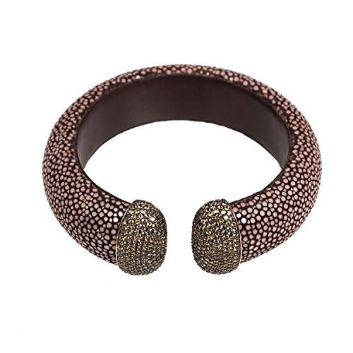 Stingray Cuff Rosegold - Chocolate - Champagne CZ