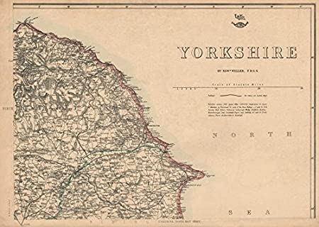 Map Of Uk East Coast.Yorkshire North East Coast Bridlington Whitby Scarborough Weller