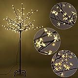 Canyon Creek Cabinets Furinho Bush - 6FT 160LED Christmas Xmas Cherry Blossom LED Tree Light Floor Lamp Holiday Decor Warm White YRS 1161