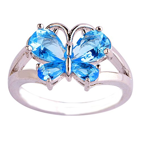 Empsoul 925 Sterling Silver Natural Stunning Filled Butterfly Blue Topaz Proposal Engagement Ring (Natural Stunning Oval)