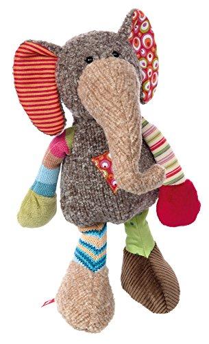 sigikid, Mädchen und Jungen, Stofftier Elefant Sweety, Grau/Bunt, 38311