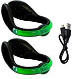 Rechargeable LED Safety Light Flashlight Spur (Green)
