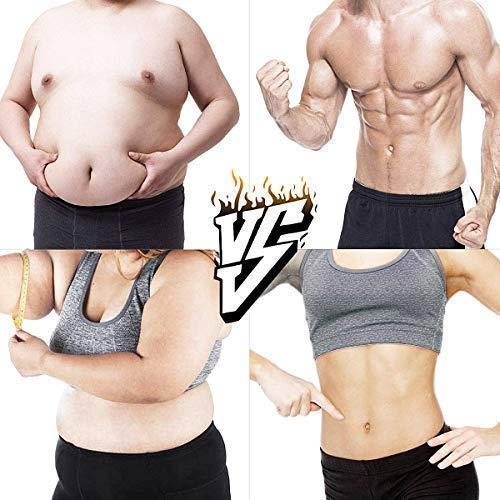 AOSTO Estimuladores eléctricos, EMS Músculo Toner,Ejercicios de gimnasio y Fitness en casa Estiramiento de los músculos de la cintura del cuerpo Equipo de ejercicios para hombres y mujeres