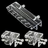 SENZEAL Acrylic Aquarium Tweezers Scissor with 2x Pipe Holder Acrylic Fixture Clamp for Inflow Outflow Lily Pip