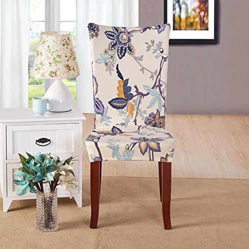 Yiwant Super Fit Stretch Removable Washable Short Dining Chair Cover Protector Seat (Designer Style Slipcover)