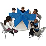 Really Good Stuff Multiple Station Privacy Shield (48''D x 14''H, Blue, 1)