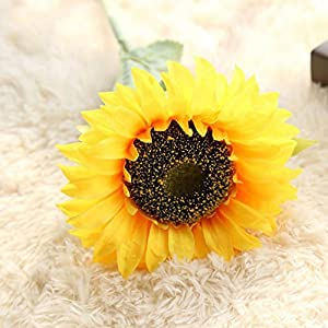 Chartsea Artificial Fake Flowers Sunflower Floral Wedding Bouquet Party Home Decor (Yellow) 74