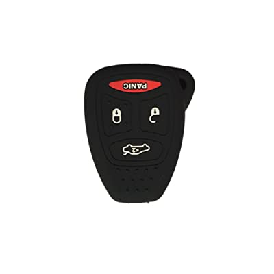 Black Silicone Rubber Keyless Entry Remote Key Fob Case Skin Cover Protector fit for 2006 2007 MITSUBISHI Raider: Automotive