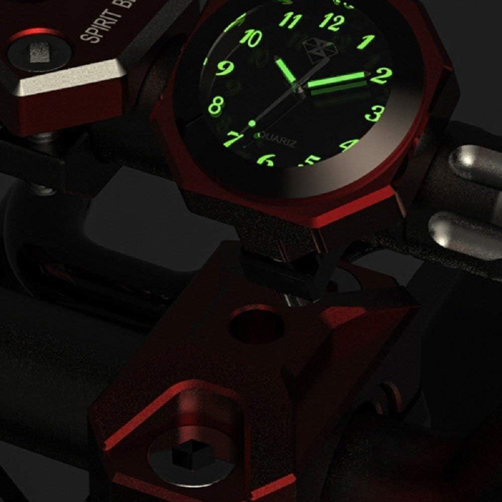 RONSHIN Decorazione Orologio Luminoso in Lega per Moto Impermeabile