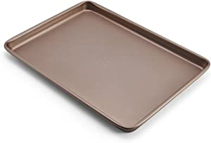 Chicago Metallic Elite Non-Stick Carbon Steel Small Cooking/Baking Sheet, 13-Inch-by-9.5-Inch, Bronze