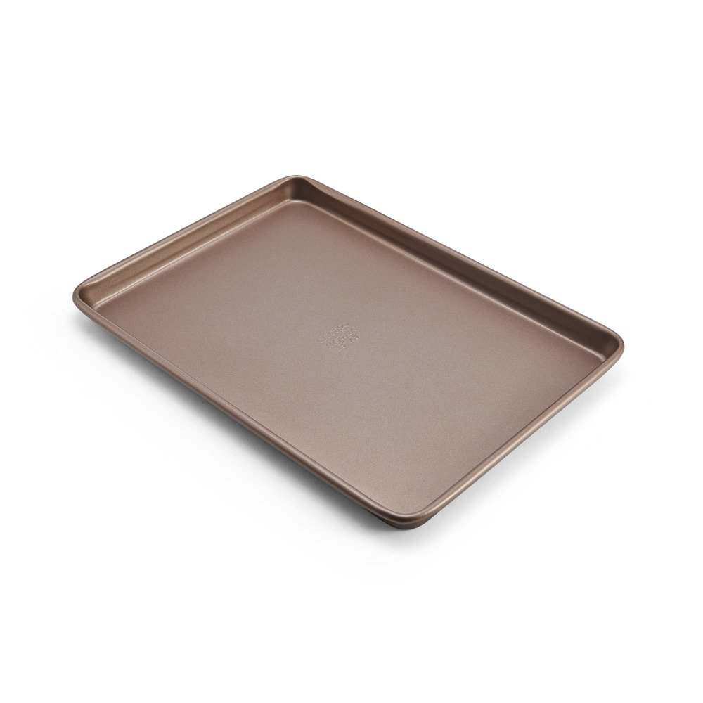 Chicago Metallic 5212095 Elite Non-Stick Carbon Steel Small Cooking/Baking Sheet, 13-Inch-by-9.5-Inch, Bronze by Chicago Metallic