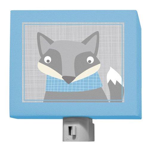 Oopsy Daisy Happy Fox Night Light, Gray/Blue, 5'' x 4'' by Oopsy Daisy (Image #2)