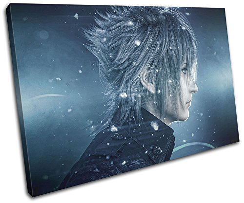Bold Bloc Design - Final Fantasy XV XBOX ONE PS4 PC Gaming 60x40cm SINGLE Canvas Art Print Box Framed Picture Wall Hanging - Hand Made In The UK - Framed And Ready To Hang
