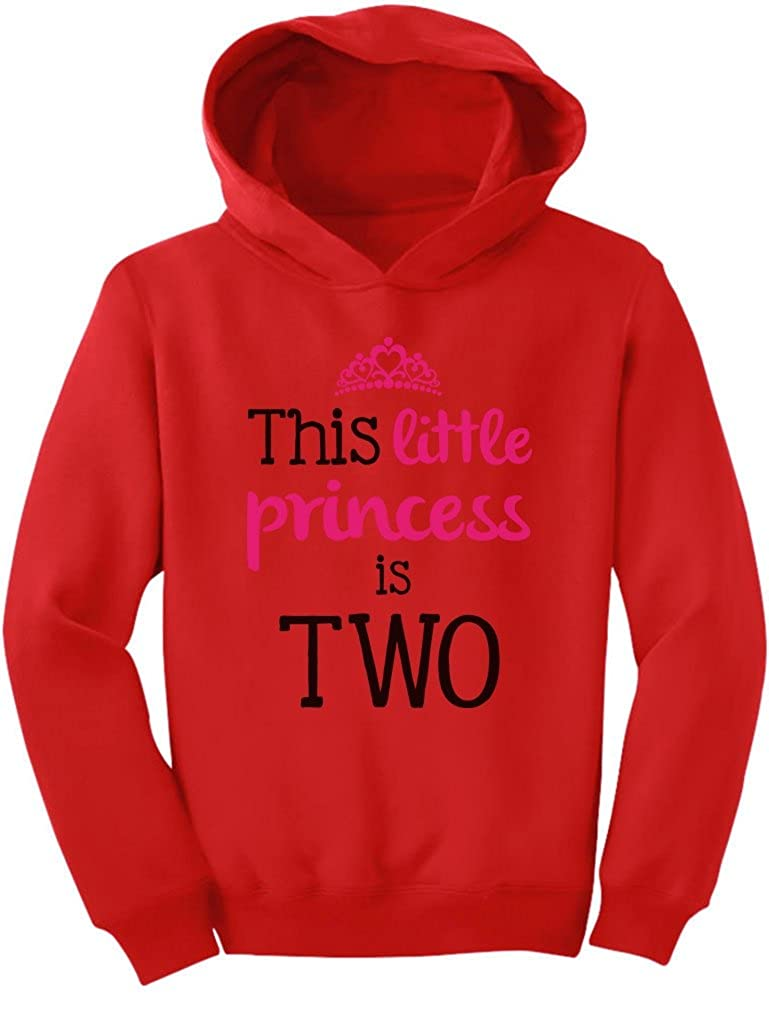 TeeStars - This Little Princess Is Two 2 Years Old Girl Birthday Toddler Hoodie G0PMMtZgvm