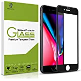 iPhone 8 plus Screen Protector-MORNTTE Tempered Glass with 3D Touch Case Protective Screen Protector for Apple iPhone 7 plus (black)