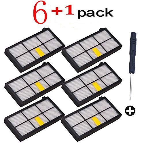 Keela 6pack HEPA Filter filters For iRobot Roomba 800 900 series 860 870 871 880 960 980 Vacuum Cleaning Robots Brand New