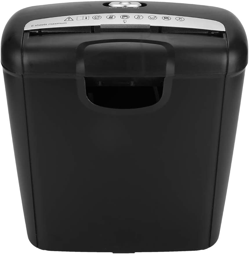 GOTOTOP 110V Paper Shredder, 6-Sheet Heavy Duty Strip-Cut Paper CD Credit Card Shredder with 10L Pullout Basket for Small Home Office Use