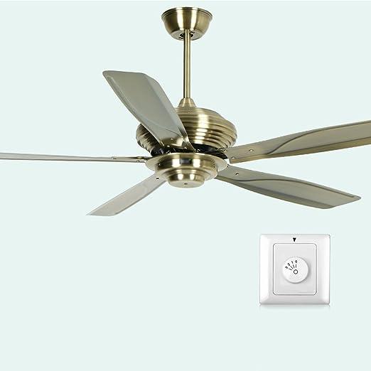Ventilador de Techo Antiguo de Iron Leaf sin Luces Salón de ...