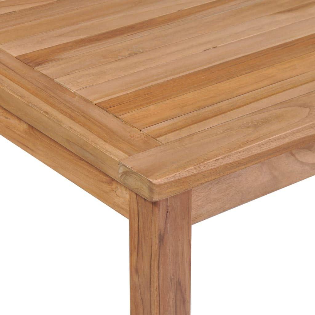 vidaXL Bois Teck Massif Table /à D/îner dExt/érieur 80x80x77 cm Table de Jardin