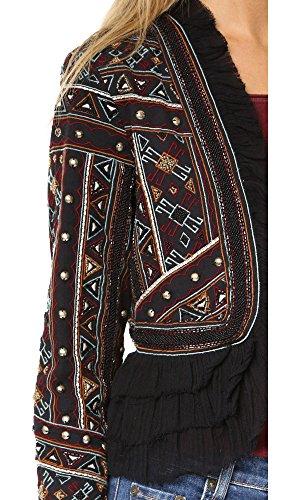 Love Sam Vannes Embroidered Jacket W/Ruffle Trim, Black, XS by Love Sam Vannes Embroidered Jacket, Black, XS (Image #4)