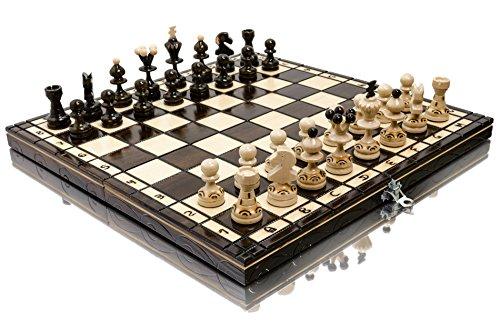 Stunning PEARL 35cm / 13.8in Popular European Wooden Chess Set! Hand...