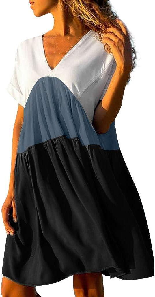 Xuxmim Sommerkleider Damen Strandkleider Armellos Rundhals Minikleid Casual Loose Tank Top Kleider Schwarz Xxx Large Amazon De Bekleidung