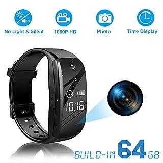 Binrrio Hidden Camera, 1080p HD Spy Camera 64GB Memory Card Body Camera Video Photo Recording for Business Conference & Security
